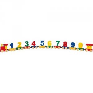Trenino in legno dei numeri con calamite Decorazione camera e gioco bambini