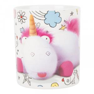 Tazza da colazione in ceramica Minions con unicorno Fluffy