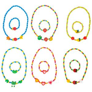 Set gioielli collana e bracciale Motivi colorati gioco per bambine