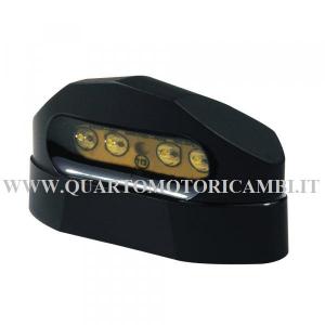 404110795  BCR FANALINO TARGA 4 LED UNIVERSALE OMOLOGATO