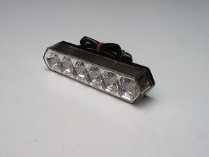 FANALE POSTERIORE a LED - CROMO BIANCO per MOTO