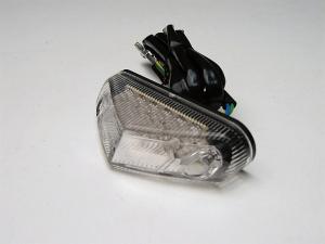 FANALINO POSTERIORE A LED, TRASPARENTE per MOTO da ENDURO, SUPERMOTARD, STRADA