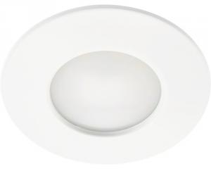 Faretto bianco led 5w 220v 3.000k ip44 vetro opaco