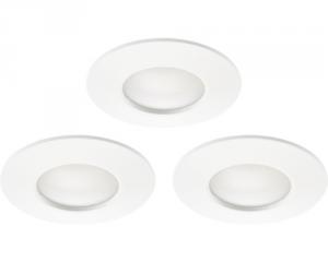 Set 3 faretti bianco 5w 3000k vetro opaco