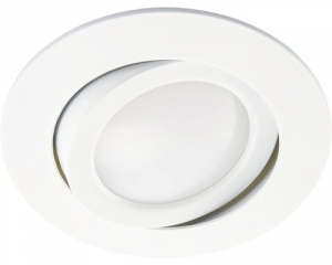 Faretto bianco led 5w 220v 3.000k ip44 orientabili vetro opaco