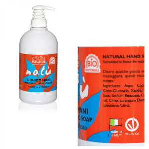Liquido Mani Natù con Dispenser 500 ml, Officina Naturae