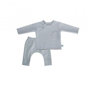 Maglietta e pantaloncino TWIN SET Pure Bamboom 1 MESE AZZURRO