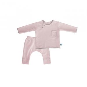 Maglietta e pantaloncino TWIN SET Pure Bamboom 1 MESE ROSA