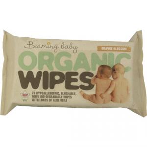 Salviette Biodegradabili umidificate e profumate con Aloe Vera, Beaming Baby