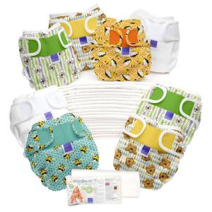 Set Pannolini lavabili MIO SOFT BAMBINO MIO 20 CAMBI Birth to Potty Col. Assortiti
