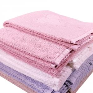 LA PERLA set 1+1 asciugamano e ospite HEART 100% spugna - vari colori