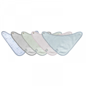 Bavaglino triangolare per neonato Bamboom Muslin Stripe Collection