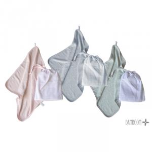Set Asilo Asciugamano Towel Bimbo Bamboom Vari colori