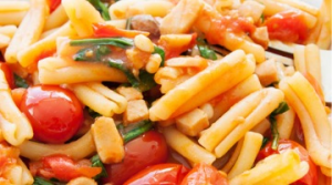 Strozzapreti pasta salad with octopus, cuttlefish and cherry tomatoes (serves 6 people)