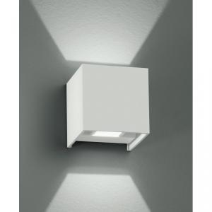 Applique bianca Cubica Alluminio Emissione Luce Sopra e Sotto Lampada Led 7 watt