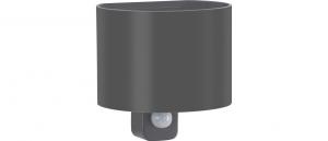 Applique antracide cilindrica Alluminio Emissione Luce Sopra e Sotto Lampada Led 7 con sensore di movimento