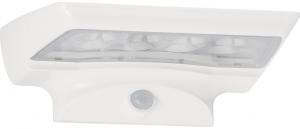 Applique elegante moderna bianca led con sensore movimento pannello solare e crepuscolare