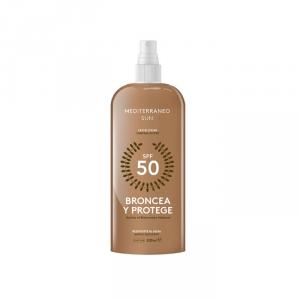 Mediterraneo Sun Broncea Y Protege Suntan Lotion Spf50 200ml
