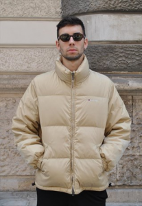 GIACCA BOMBER ANNI 90 BEIGE TOMMY HILFIGER