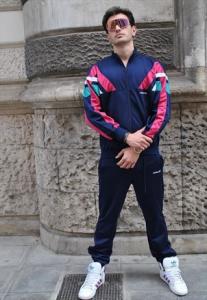 Tuta vintage Adidas Anni 90 multicolor acetata