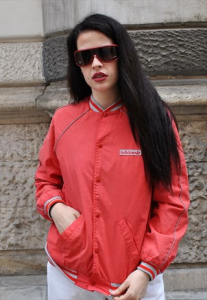 GIACCA A VENTO BOMBER COLLEGE ADIDAS VINTAGE ANNI 90