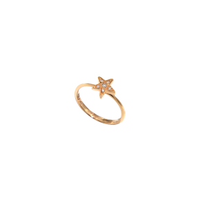 Anello Etoiles mini in oro rosa e diamanti