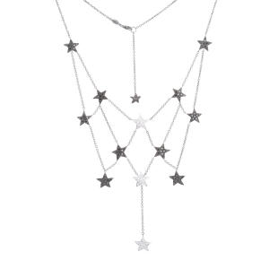 Necklace in white gold and diamonds
