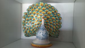 Pavone ceramica caltagirone  cm28
