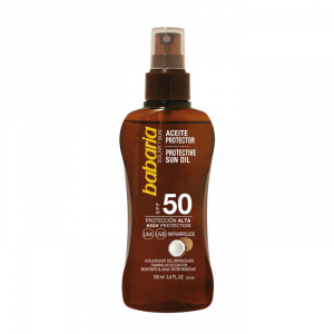 Babaria Protective Sun Oil Spf50 With Tahitian Monoï Oil 100ml