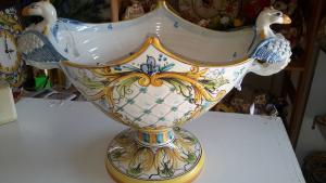 Alzata Fazzoletto Grifoni Ceramiche Caltagirone