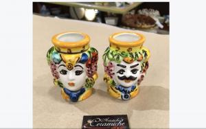 Teste Porta Stuzzicadenti Ceramiche di Caltagirone
