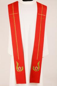 Stola S35 M1 Melograni Rossa - Misto Lana
