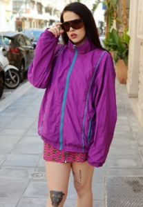 GIACCA VINTAGE K-WAY WINDBREAKER ANNI 90 MULTICOLOR BY ELLESSE