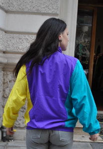 GIACCA VINTAGE K-WAY WINDBREAKER ANNI 90 MULTICOLOR BY ASICS