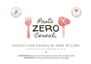 Fusilli ZeroCereali con Farina di Lino. No Glutine - No Legumi - No Latticini