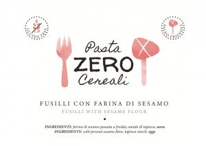 Fusilli ZeroCereali con Farina di Sesamo. No Glutine - No Legumi - No Latticini