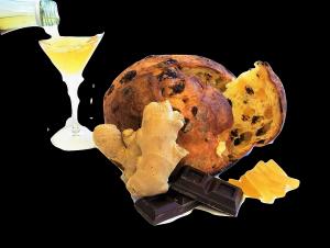 TRONCHETTO ZENZERO E CIOCCOLATO imbibito con liquore alla vaniglia 400g