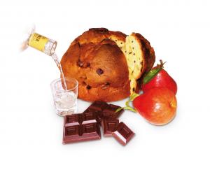 TRONCHETTO PERE E CIOCCOLATO imbibito con liquore alla pera 400g
