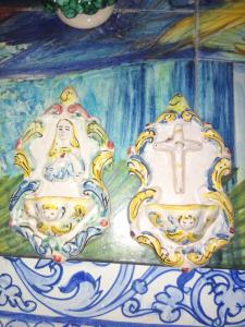 Acquasantiere ceramica di Caltagirone