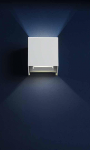 Applique da esterno bianca Cubic