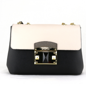 Shoulder bag Cromia IT SAFFIANO 1403876 NERO+BEIGE