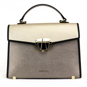 Hand and shoulder bag Cromia ABBY 1403949 ACCIAIO