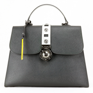 Hand and shoulder bag Cromia GLORIA 1403917 NERO+SILVER