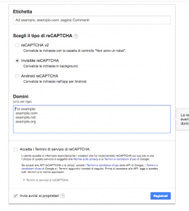 Storeden app - screenshot 3 - Google reCAPTCHA