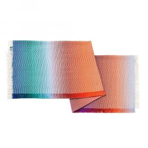 Plaid Missoni Home 150x180 cm TERREL 100 zig-zag con frange