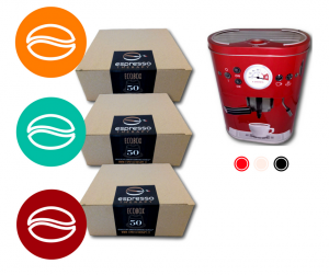 150 capsule compatibili nespresso tre miscele e porta capsule  posti in omaggio