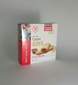 Barretta cacao quinoa senza glutine