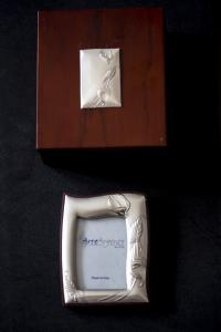 Cornice portafoto in Argento con cofanetto in legno