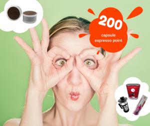 200 capsule compatibili lavazza espresso point miscela Ardore più omaggio a scelta