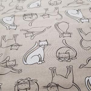 Tovaglia x 12 persone puro cotone con tovaglioli Gatti